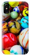 Red Jar Spilling Marbles IPhone Case
