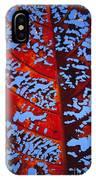 Red Kamani Tree Leaf IPhone Case