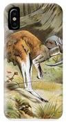 Red Kangaroo IPhone Case