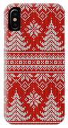 Red Knitted Winter Sweater IPhone Case