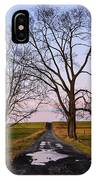 Red Lane With Purple Sky IPhone Case