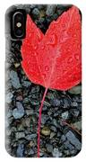 Red Leaf Almost Alone IPhone Case