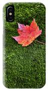 Red Leaf Green Moss IPhone Case