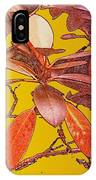 Red Leaves Gold Sunset IPhone Case