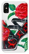 Red Leopard Roses IPhone Case