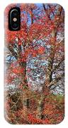 Red Maple Foliage Kaleidoscope IPhone Case