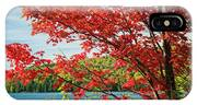 Red Maple On Lake Shore IPhone X Case