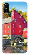 Red Mill Nj Fall Landscape IPhone Case