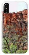 Red Mountains Zion National Park Usa IPhone Case