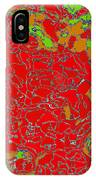 Red Orange Green Abstract Painting IPhone Case