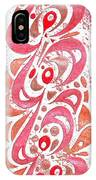 Red Orchid Cluster  IPhone Case
