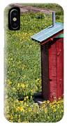 Red Outhouse 3 IPhone Case