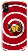 Red Plate And Yellow Black Butterfly IPhone Case