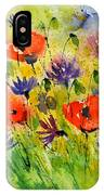 Red Poppies And Cornflowers IPhone Case