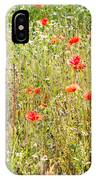 Red Poppies And Wild Flowers IPhone Case