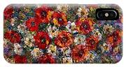 Red Poppies Bouquet IPhone Case