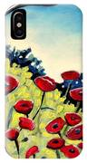 Red Poppies Under A Blue Sky IPhone Case