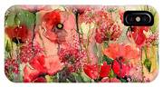 Red Poppies Wearing Pink IPhone Case