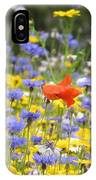 One Red Poppy Amongst The Wildflowers IPhone Case