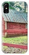 Red Rail Barn IPhone Case