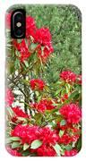 Red Rhododendron Garden Art Prints Rhodies Landscape Baslee Troutman IPhone Case