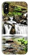 Red Rock Falls, Glacier National Park, Montana IPhone Case
