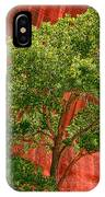 Red Rock Green Tree IPhone Case
