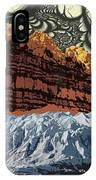 Red Rock White Ice IPhone Case