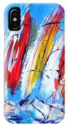 Red Sails On Blue  IPhone Case
