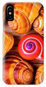 Red Snail Shell IPhone Case