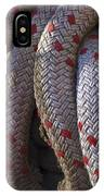 Red Speckled Rope IPhone Case
