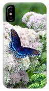 Red Spotted Purple Butterfly On Sedum IPhone Case