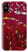 Red Stained Glass IPhone X Case