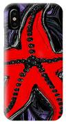 Red Starfish In Stormy Seas IPhone Case