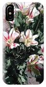 Red Stripe Tulips IPhone Case