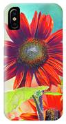 Red Sunflowers At Sundown IPhone Case