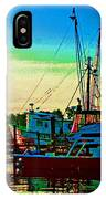 Red Sunrise And The Shrimp Boat IPhone Case