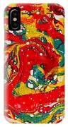 Red Swirl IPhone Case