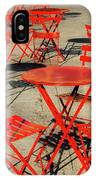 Red Tables And Chairs IPhone Case