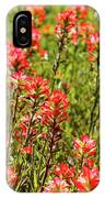 Red Texas Wildflowers IPhone Case