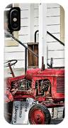 Red Tracktor IPhone Case