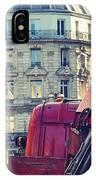 Red Truck In Paris Street IPhone Case