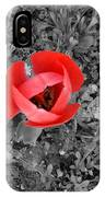 Red Tulip From Above IPhone Case