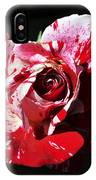 Red Verigated Rose IPhone Case
