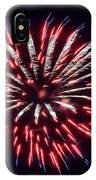 Red White And Blue Fireworks IPhone Case