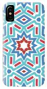 Red White And Blue Fireworks Pattern- Art By Linda Woods IPhone Case