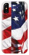 Red White Blue - American Stars And Stripes IPhone Case