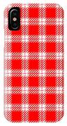 Red White Tartan IPhone Case