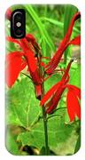 Red Wildflower IPhone Case