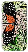 Red Winged Butterfly IPhone Case